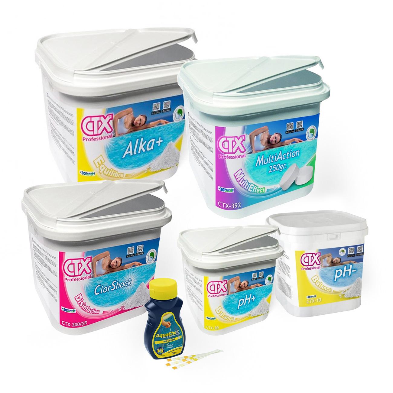 Pack Inicio de Temporada para Piscinas depuradas con pastillas de cloro (6 productos)